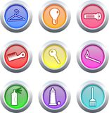 Household buttons Royalty Free Stock Photos