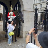 Household Cavalry London Royalty Free Stock Image