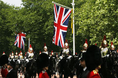 Household Cavalry at Queen's Birthday Parade Stock Image