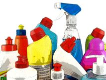 Household chemical goods Royalty Free Stock Photos