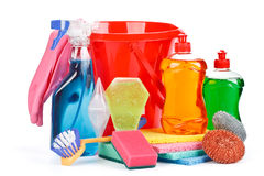 Household chemical goods Stock Photos