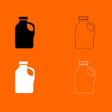 Household chemicals  black and white set icon . Royalty Free Stock Images