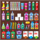 Household chemicals. Set of household chemicals Stock Image