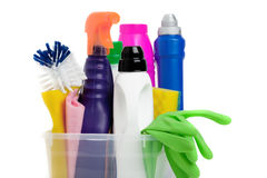 Household chemicals Stock Images