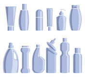 Household chemicals. Vector illustration. Set packaging for household chemicals.  on white background. Vector illustration Royalty Free Stock Image