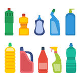 Household chemicals vector royalty free illustration