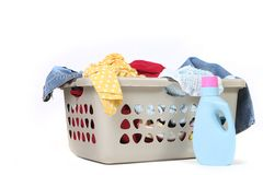 Household Chore of Laundry Waiting to Be Done Stock Images