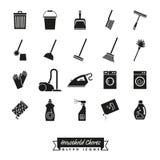Household Chores Glyph Icon Set Stock Photos