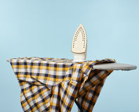 Household chores, iron and board Royalty Free Stock Image