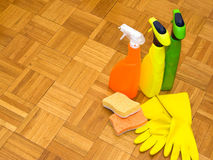 Household cleaners Royalty Free Stock Images
