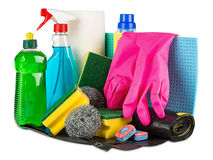 Household cleaners Royalty Free Stock Photos