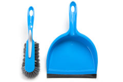 Household cleaning brush and dustpan Royalty Free Stock Photo