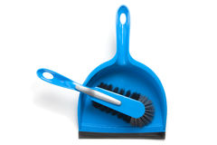 Household cleaning brush and dustpan Stock Photography