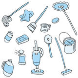 Household Cleaning Items Royalty Free Stock Photo