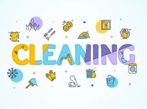 Household and Cleaning Service Concept Paper Art. Vector Stock Images