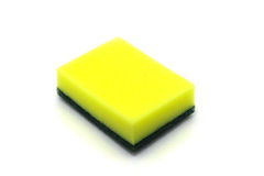 Household cleaning sponge for cleaning Royalty Free Stock Image