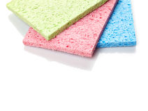 Household cleaning sponges Stock Photography