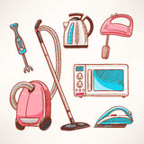 Household colored appliances Royalty Free Stock Image