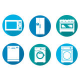 Household design icons Royalty Free Stock Photo