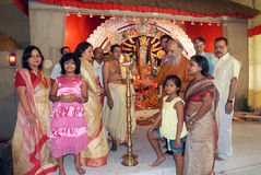 Household Durga Festival of Kolkata Stock Photography