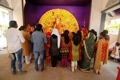Household Durga Festival of Kolkata Stock Image