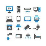 Household electric appliance icon set Stock Photos