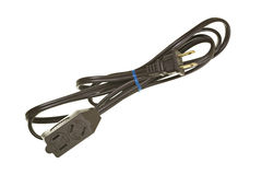 Coiled Household Electric Power Cord royalty free stock photos