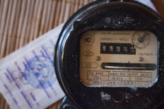 A household electricity / power meter Royalty Free Stock Photography