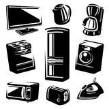 Household electronic set. Vector Stock Image