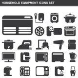 Household equipment icons set Stock Photos