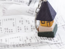 Household expenses Stock Images