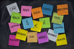 Household finance concept stock photography