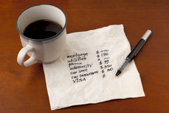 Household finance concept Stock Images
