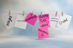 Household finances time line Royalty Free Stock Photography