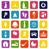 Household and food products. Collection of vector icons. Stock Images