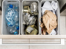 Household garbage segregation Stock Images
