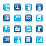 Household Gas Appliances icons stock illustration