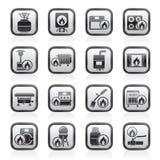 Household Gas Appliances icons Royalty Free Stock Photos