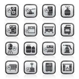 Household Gas Appliances icons Stock Image