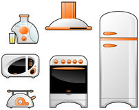Household goods. A Vector illustration of the household goods (Simple gradients only - no gradient mesh Royalty Free Stock Images
