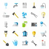 Household goods, color icons, images. Royalty Free Stock Photo