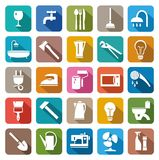 Household goods, household products. Colored icons of consumer goods Stock Photography