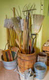 Household goods in an old village general store. Stock Images
