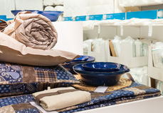 Household and home bedding shop Royalty Free Stock Photos