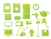 Household icons Stock Photo
