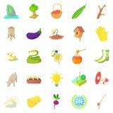 Household icons set, cartoon style. Household icons set. Cartoon set of 25 household icons for web isolated on white background Royalty Free Stock Image