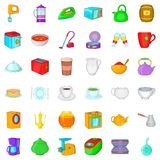 Household icons set, cartoon style. Household icons set. Cartoon style of 36 household vector icons for web isolated on white background Stock Photo