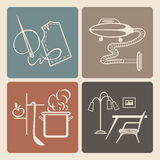 Household icons Stock Photography