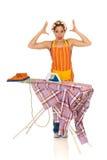 Household, ironing Royalty Free Stock Photos