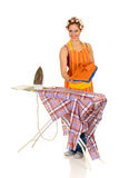Household, ironing Royalty Free Stock Photography